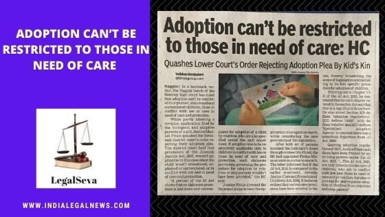 Adoption Procedure by Relative Under Juvenile Justice Act