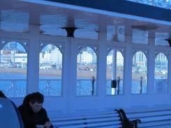Looking landward from Brighton Pier