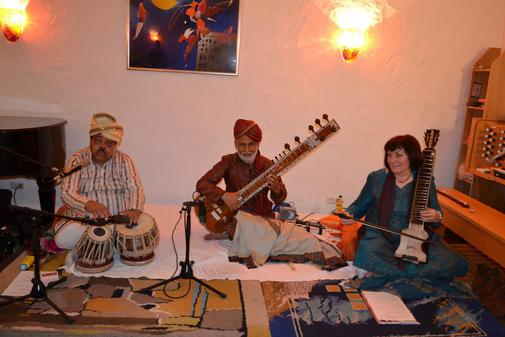 Sitar concert with Dilruba,Bansuri and Tabla in the Marienkirche Stiftberg Herford, Germany on Saturday,19th September 2015