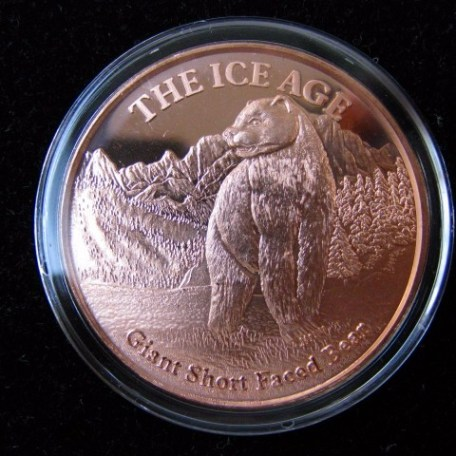 Ice Age Short Faced Bear Copper Coin