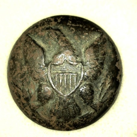 Genuine Union Army Issued Regulation Enlisted Man Eagle Coat Button