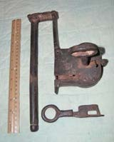 Lock for a gate or large ship strong box 2