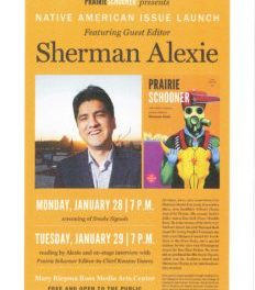 Sherman Alexie in Lincoln January 28-29, 2013