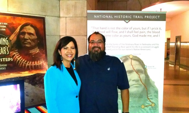 Ponca Cultural Director Randy Teboe recently visited NCIA Executive Director