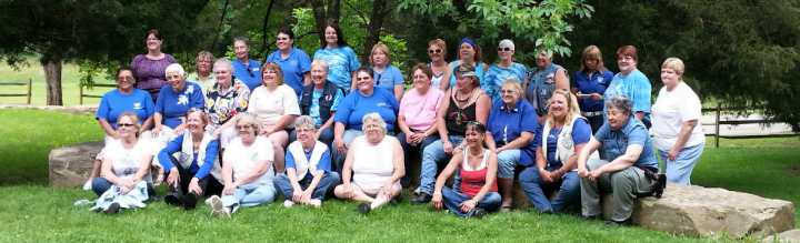 Maids in the Woods at President Sue Gibson's home.