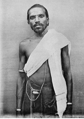 1800's, Devanga Man, Weavers Caste, Tamil Nadu, wearing Amulet Boxes