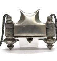 Antique Lingam Casket, (Ayigula), Chauka, Shiva Lingam Container, Silver, 241 Grams (8.5 oz.)