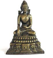 Antique Buddha Statue, Nepal, Tibet or Himalayan, Bhumisparsha Mudra, Meditating Buddha