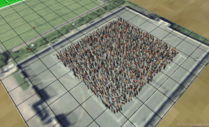Two and a half people per square meter