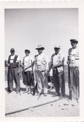 Leone McClintock (2nd from left), Elzie McClintock (5th)