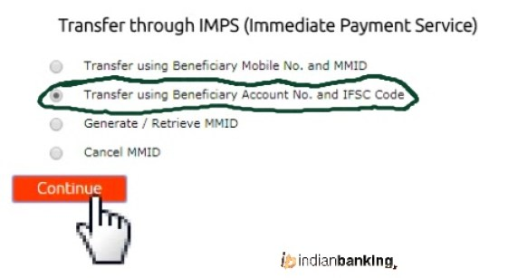 money transfer through IMPS in Bandhan Bank