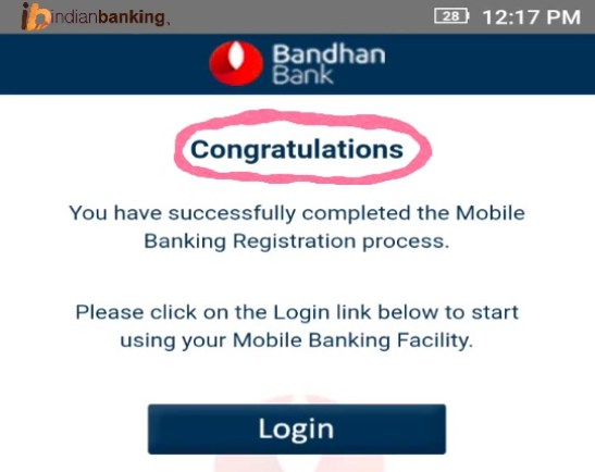 Bandhan Bank Mobile Banking Registration