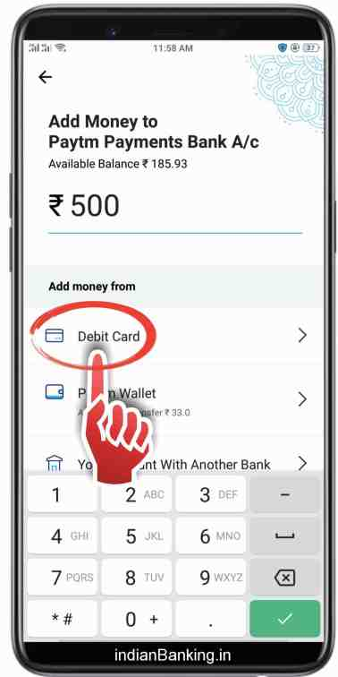 add money in paytm saving account