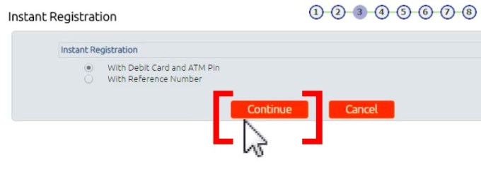 Bandhan bank Net Banking select Debit Card