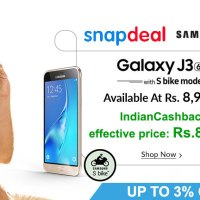 Samsung Galaxy J3 with new S Bike mode just for Rs.8720.3 !!