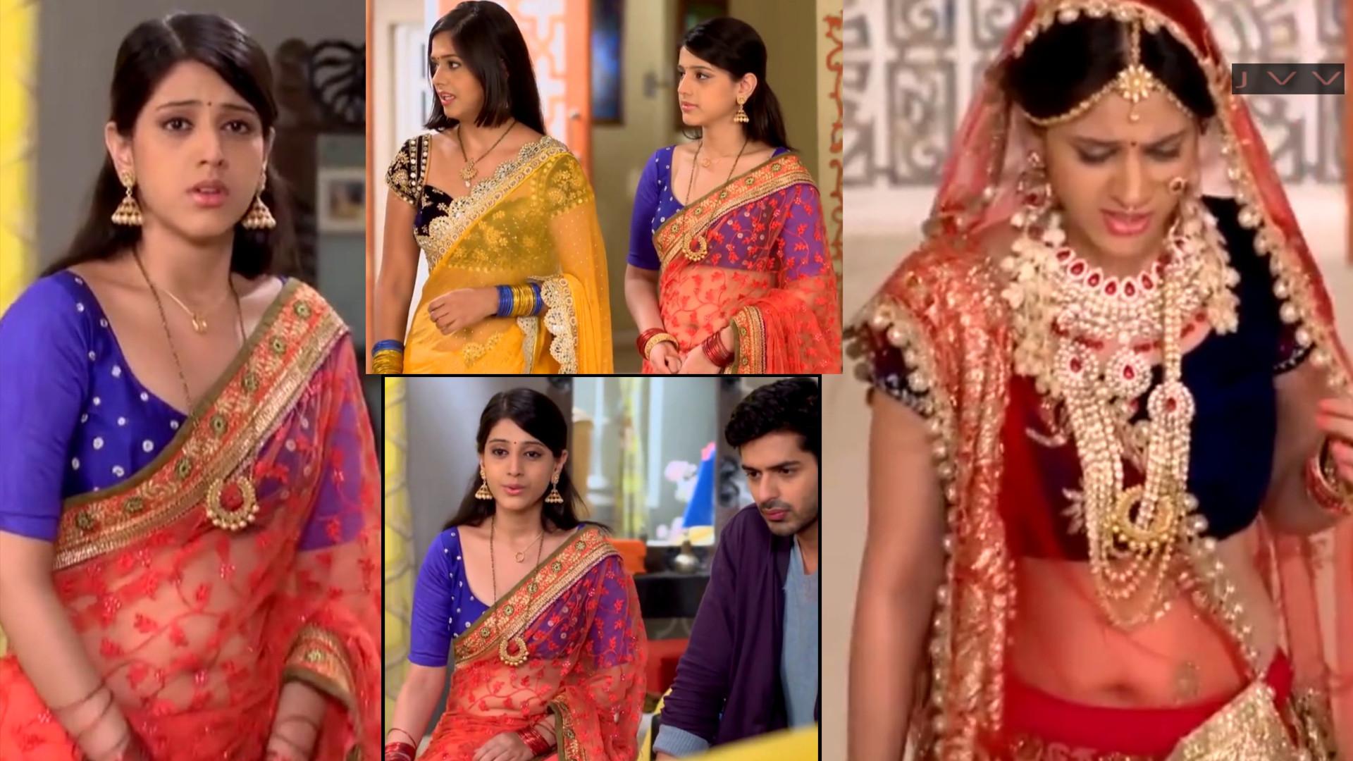 Hindi TV Actress Simran Pareenja hot navel show HD caps