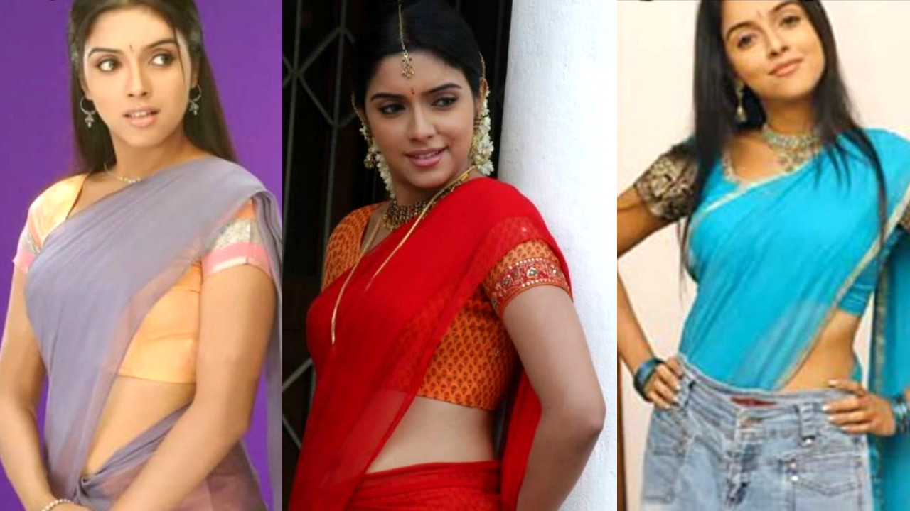 Asin thottumkal sexy half sari pics gallery
