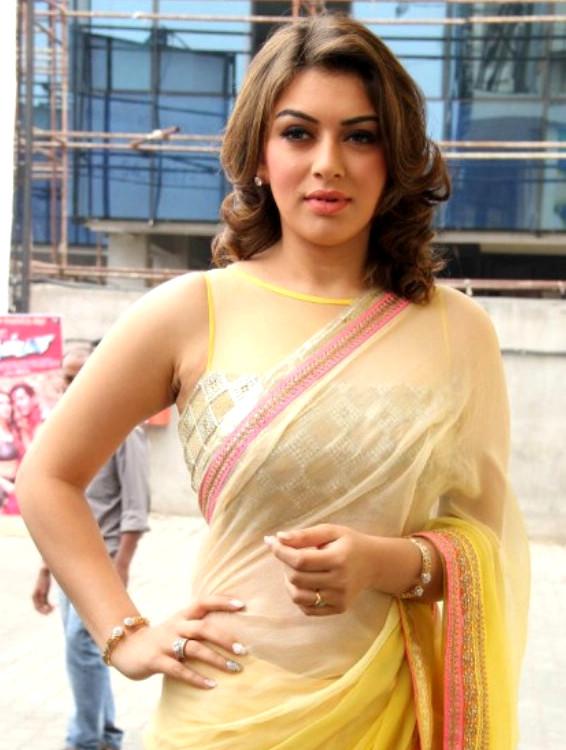 Actress Hansika Motwani Saree Photos @ Aambala Audio Release