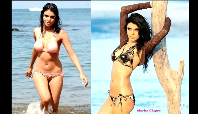 Sherlyn chopra Bollywood Actress Hot two piece Pic 40