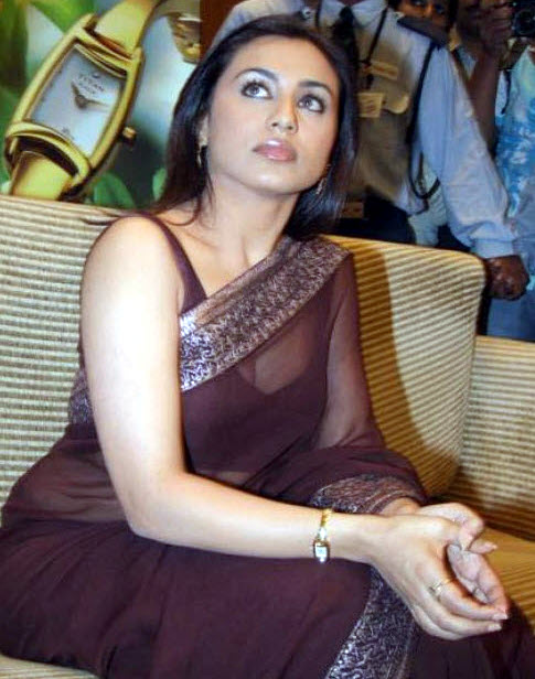 Rani Mukherjee_023_BWEvent Brown TSaree