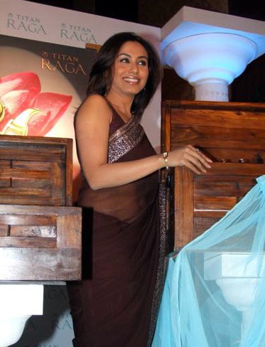 Rani Mukherjee_026_BWEvent Brown TSaree