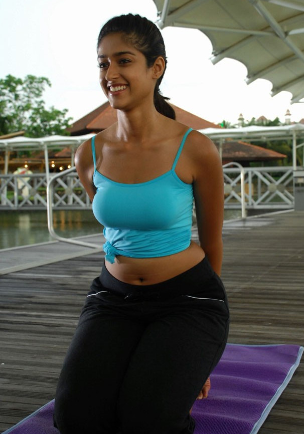 Ileana D'Cruz Hot Yoga posing Tollywood movie stills