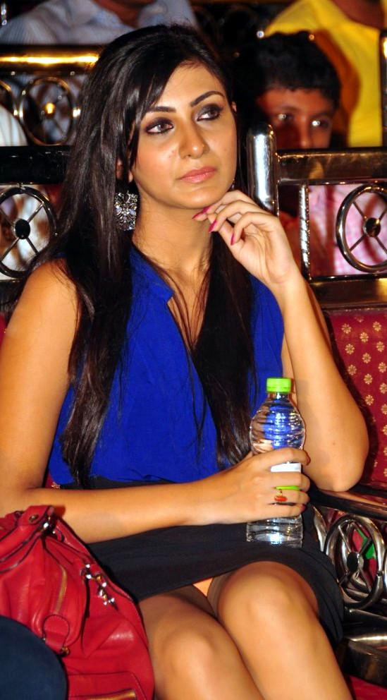 Neelam Upadhyay in Hot Blue Dress at Action 3D Gummadikaya Function