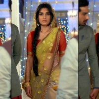 Shiny Doshi Desi TV actress navel show in transparent sari