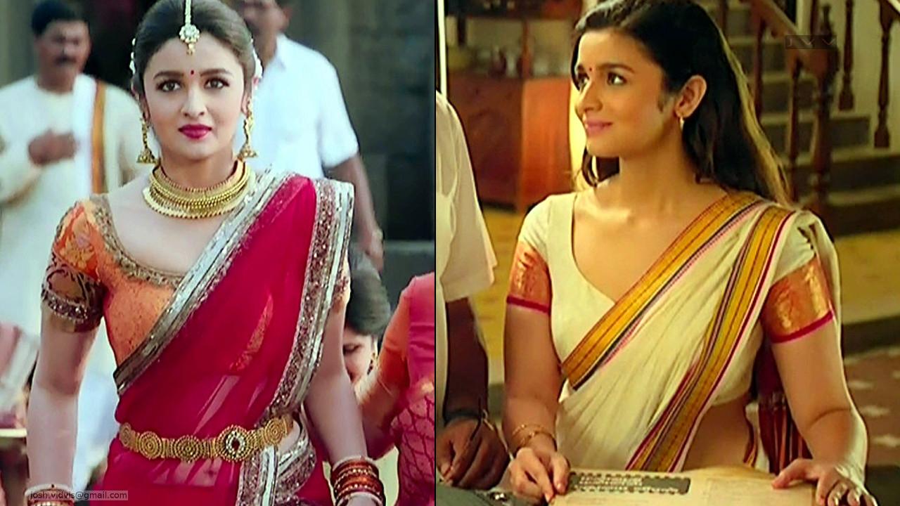 Alia Bhatt hot saree caps from 2 states bollywood movie