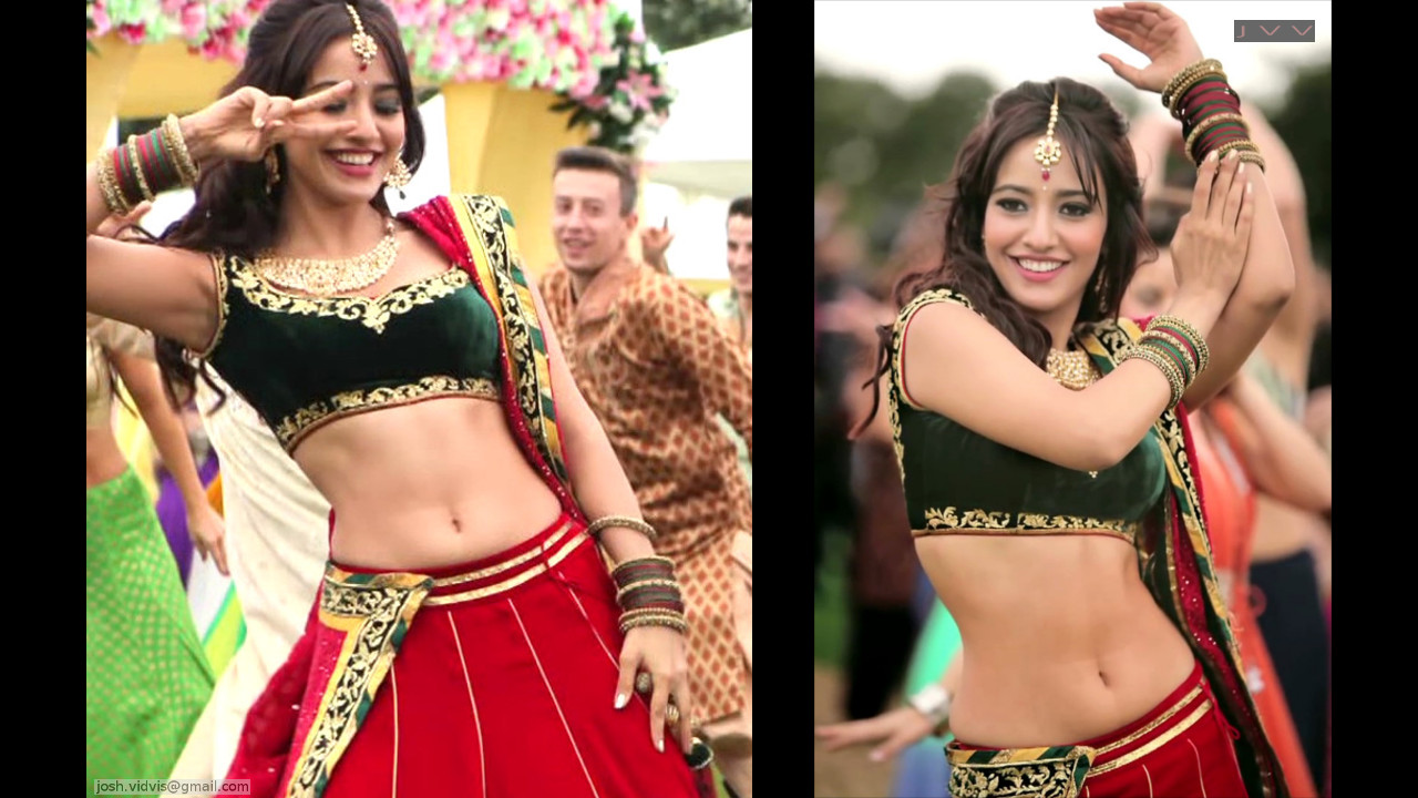 Neha Sharma_003_lahenga navel hot