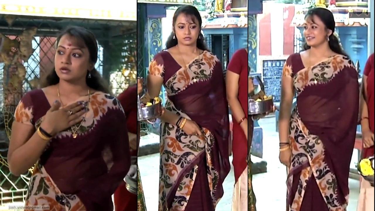 Sreeja_Bommalattam_006_TSaree Navel