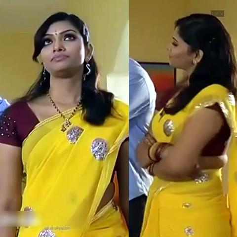 Krithika_Tami TV _11_hot saree navel caps