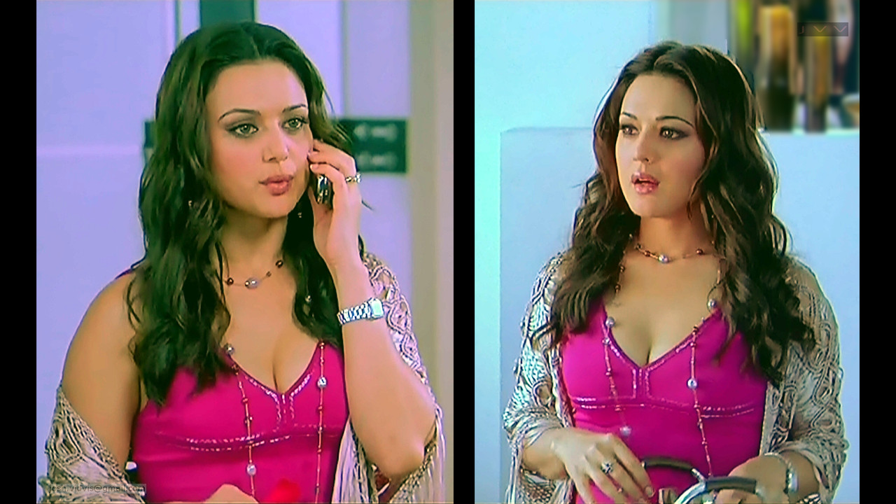 Preity Zinta_KANK_05_ScrCap Scene Cleavage