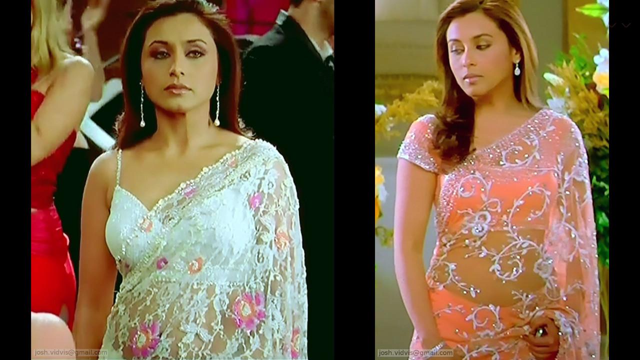 Rani Mukherjee hot saree caps from Kabhi alvida naa kehna