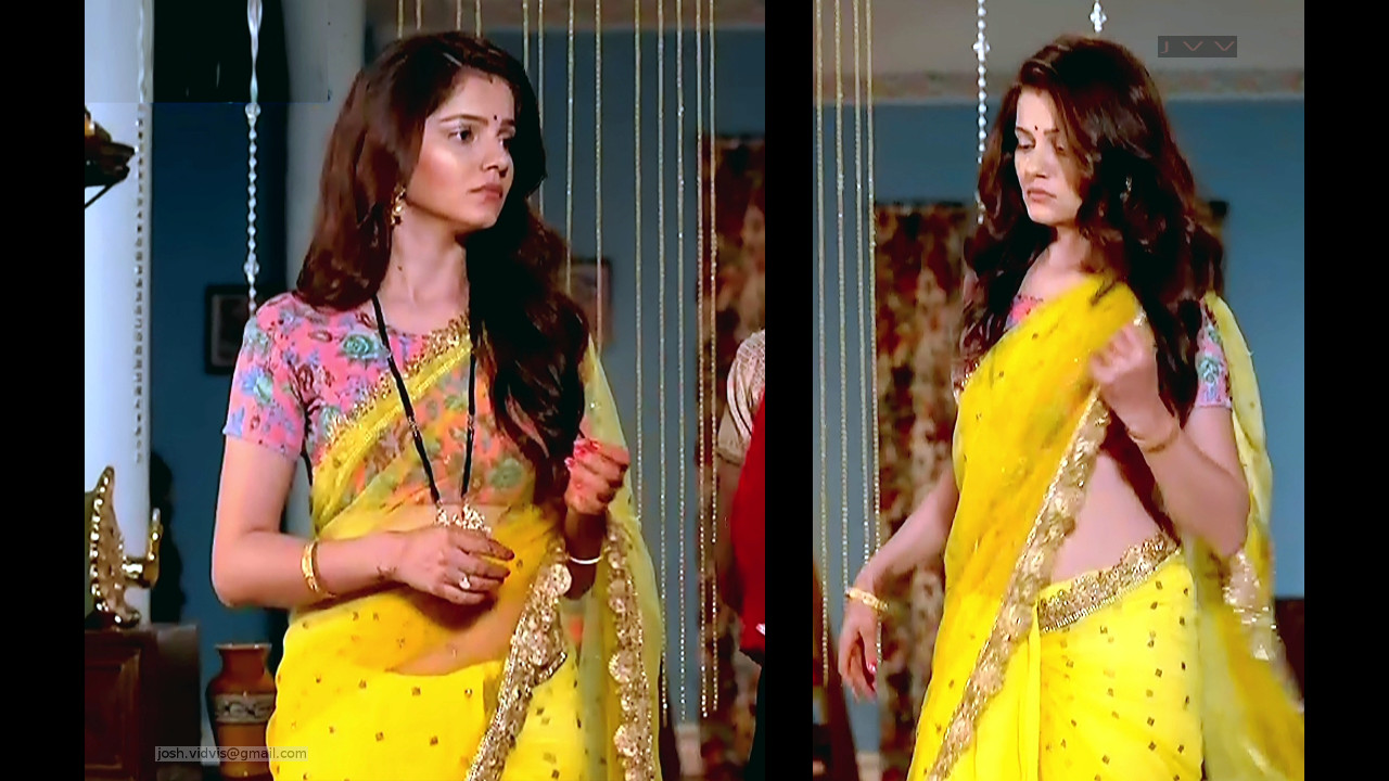 Rubina Dilaik_Hindi TV Actress_01_Hot Saree Pics