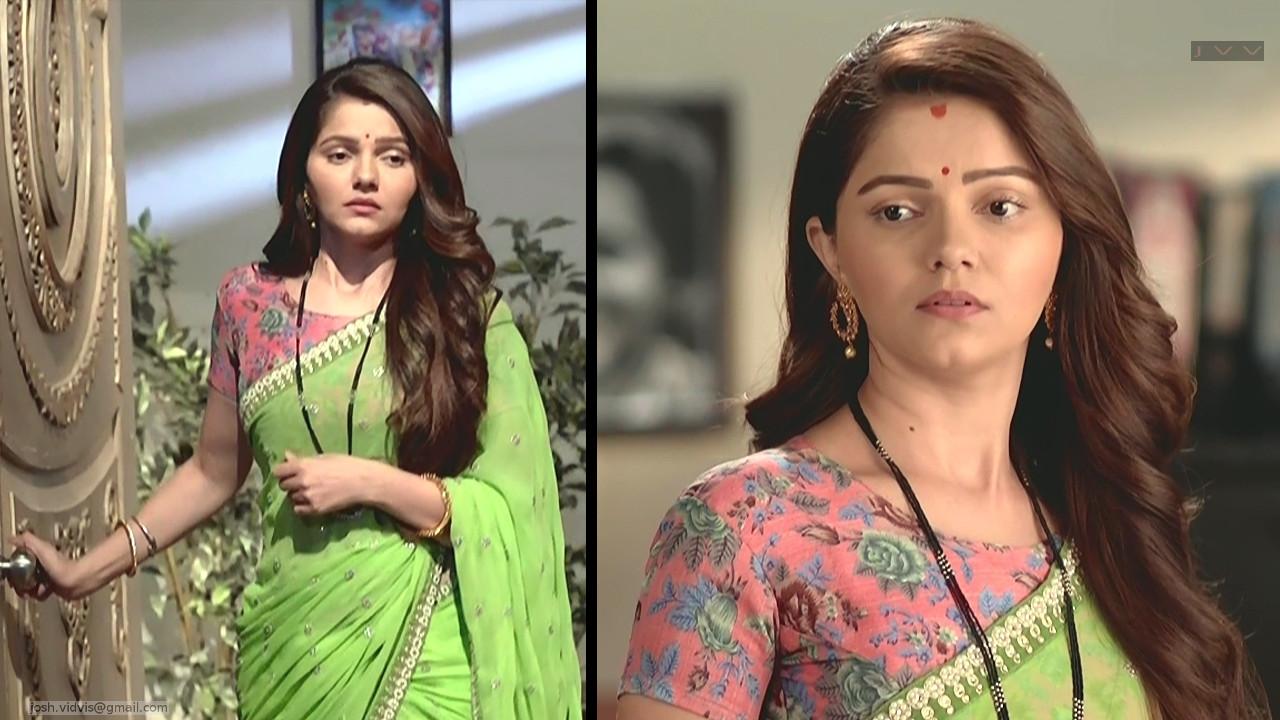 Rubina Dilaik_Hindi TV Actress_08_Hot Saree Pics