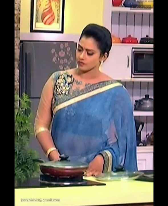 Telugu Anchor Cook show_05_Saree navel