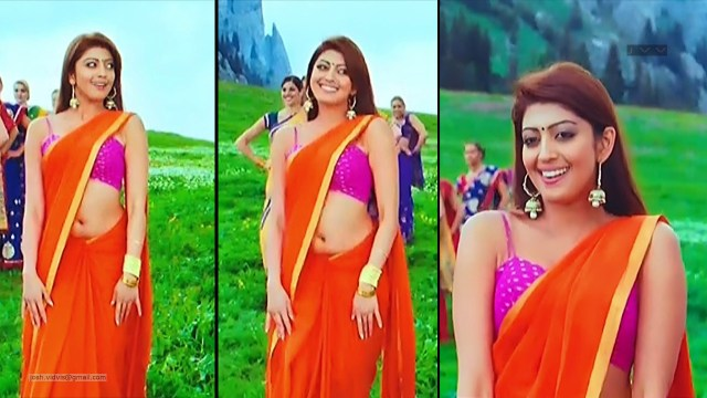 Pranitha Subhash_AD-Song1_01_Hot Saree navel Pics