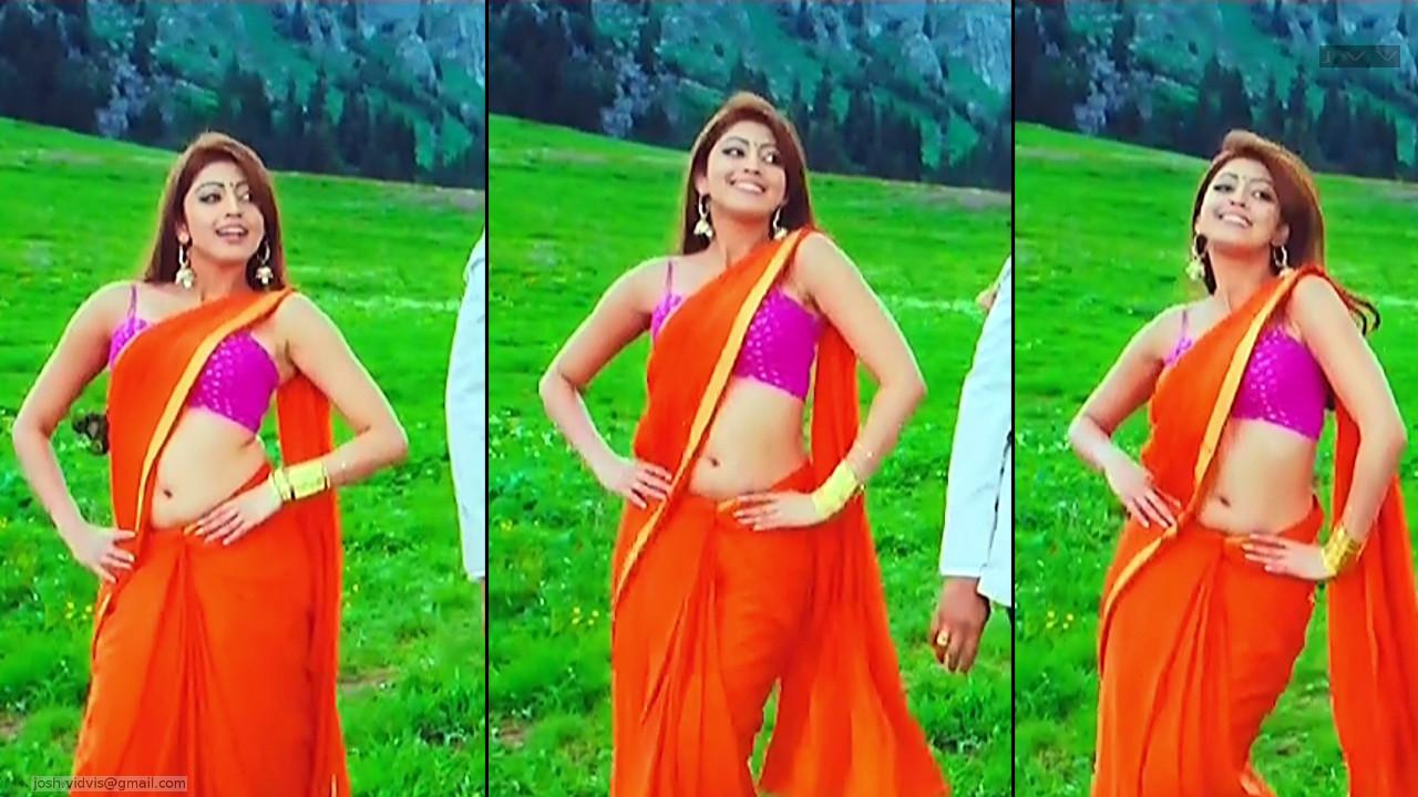 Pranitha Subhash_AD-Song1_03_Hot Saree navel Pics