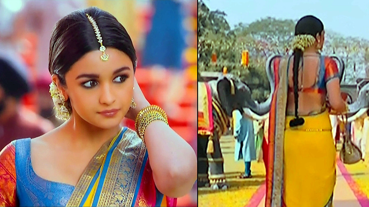Alia Bhat_Bollywood Actress_08_Saree song Stills