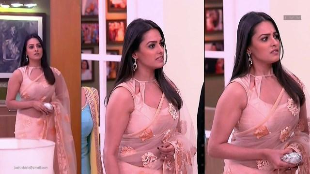 Anita Hassanandani_Hindi TV Actress_02_Transparent Saree Photo