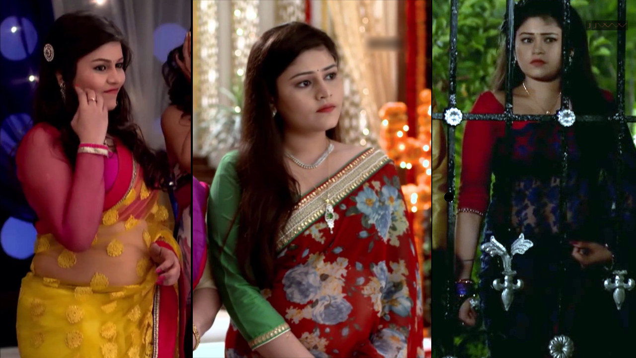 Jinal Jain Hindi TV serial actress Saree caps