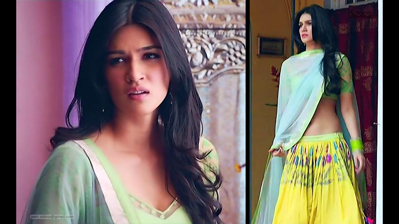 Kriti Sanon_Bollywood Actress_03_Lehenga choli hot navel show pics
