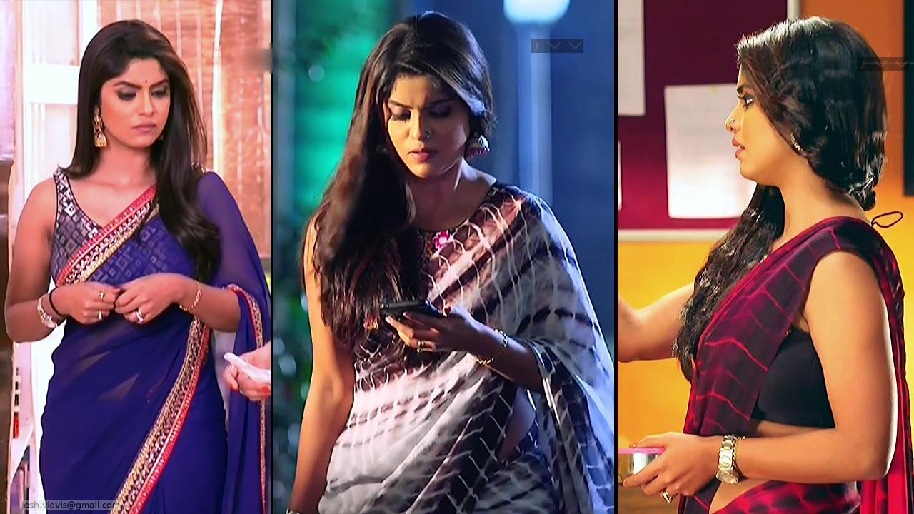 Sayantani Ghosh Indian Television Actress Saree Caps