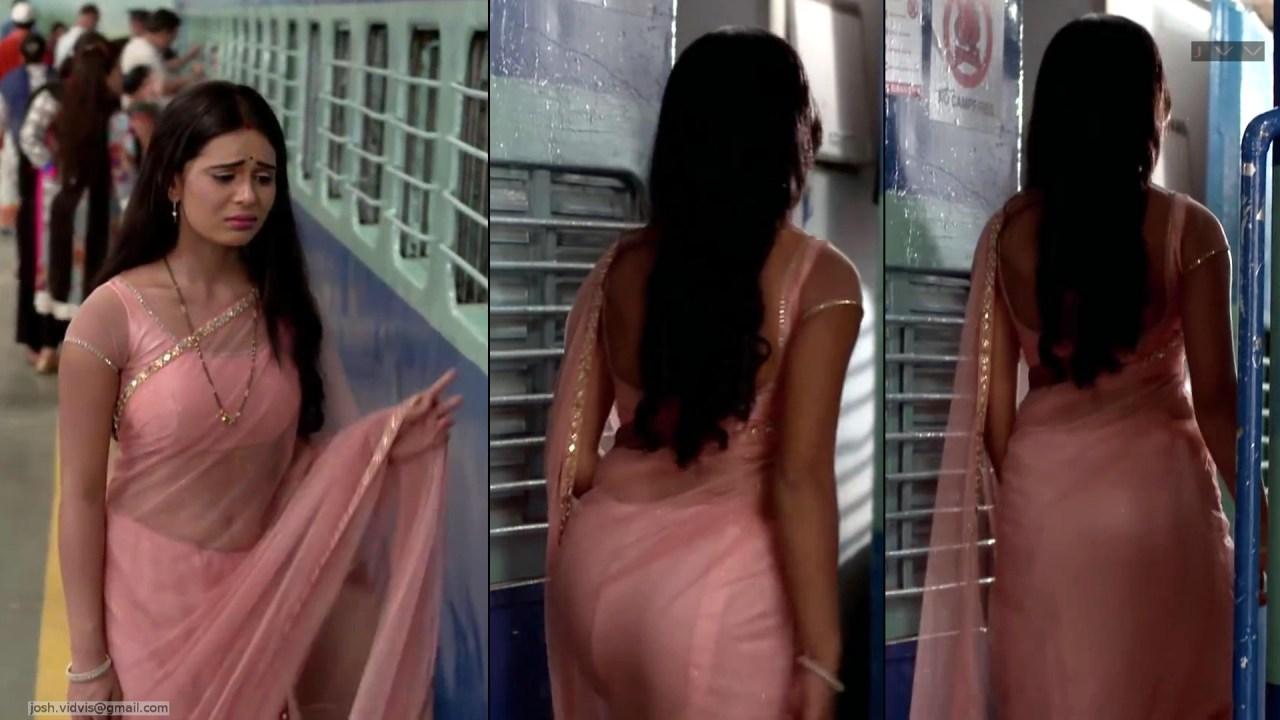 Sonal Vengurlekar_TV Act-YehVR_12_Transparent Sari Pics