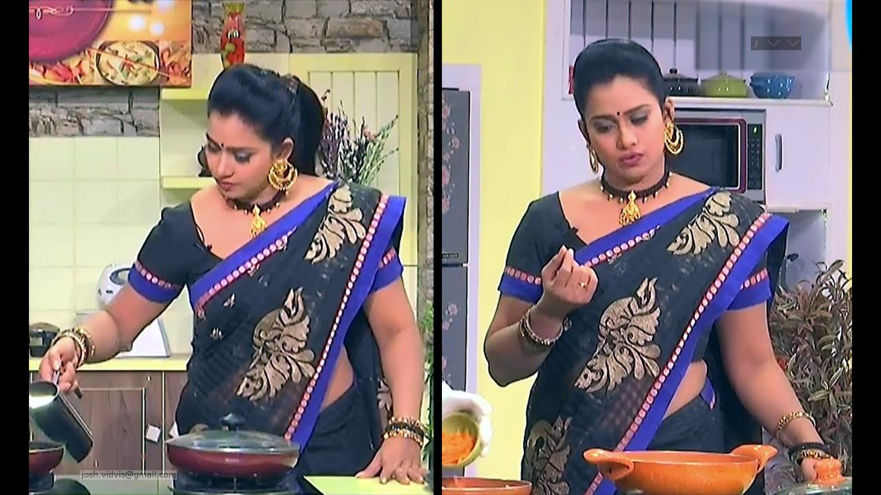 Telugu TV Anchor Cool show_03_Saree Caps photos
