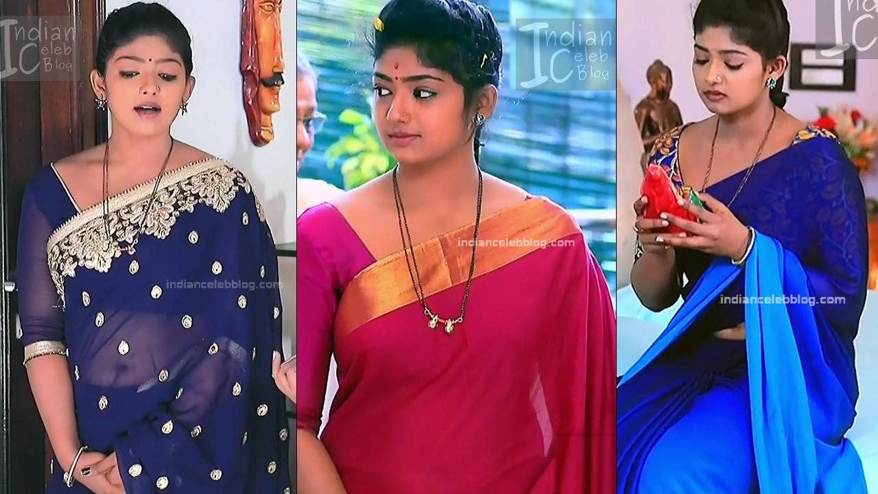 Kannada TV actress Bhoomi sheety saree navel show hd caps
