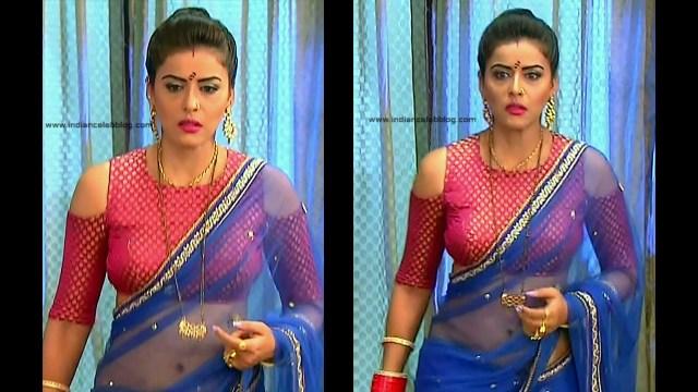 Ginnie Virdi_Hindi TV Actress_04_Hot backless saree navel pics