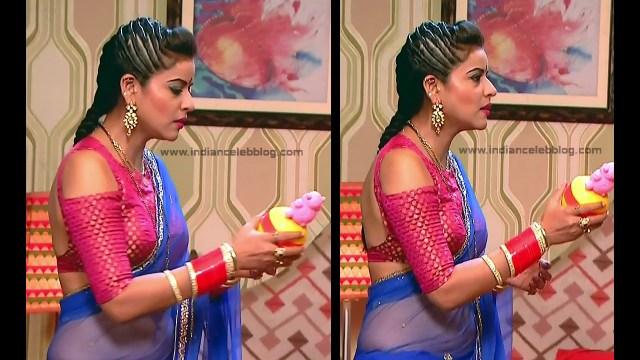 Ginnie Virdi_Hindi TV Actress_05_Hot backless saree navel pics
