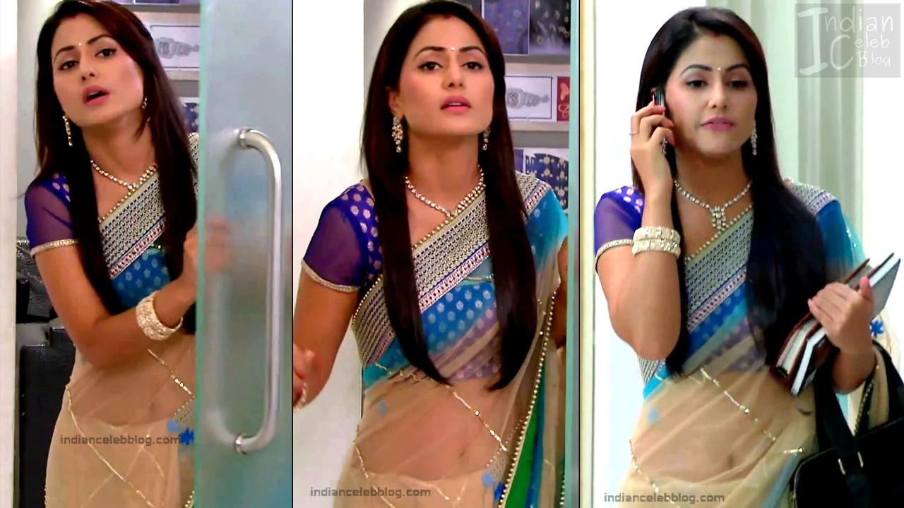 HinaKhan_Hindi TV Actress YRKKH S1_3_Hot Saree navel pics